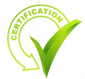 certification sur symbole valid vert